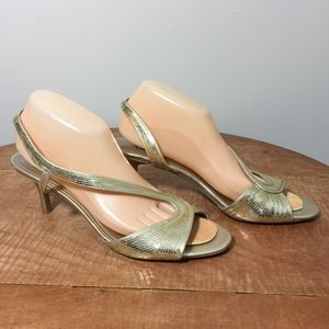 Fioni Night Gold Sequin Kitten Heels